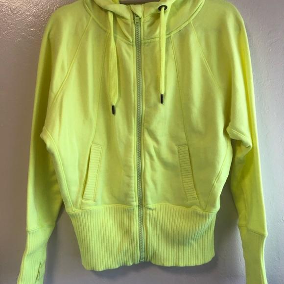 57d7f57b8c420 VICTORIA'S SECRET SPORT VSX Neon Yellow Zip Hoodie